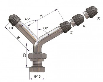 Вентиль латунный б/к  S-4297-2